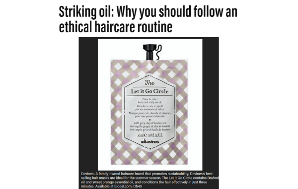 The Let It Go Circle from Davines on The National.ae