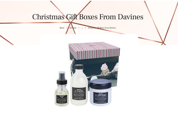 ALIA BEAUTY Middle East Christmas Gifts Boxes From Davines