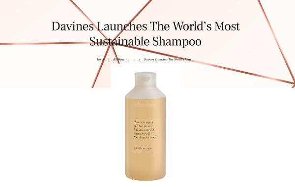 Davines Launches The World's Most Sustainable Shampoo