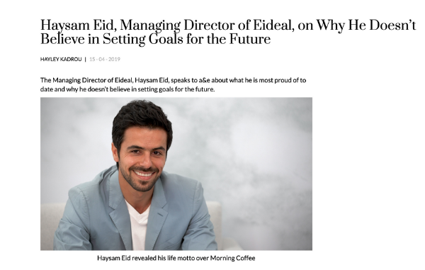 Haysam Eid's interview on A&E