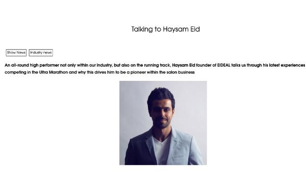Professional Beauty - Talking to Haysam Eid