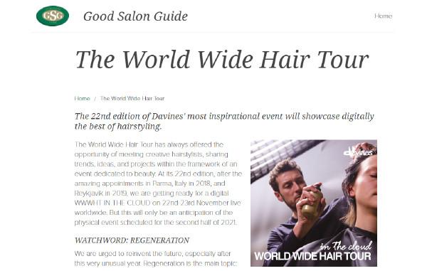 Davines World Wide Hair Tour 2020 on Good Salon Guide