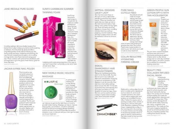 The Beauty Guild - Guild Gazette (UK) July 2013