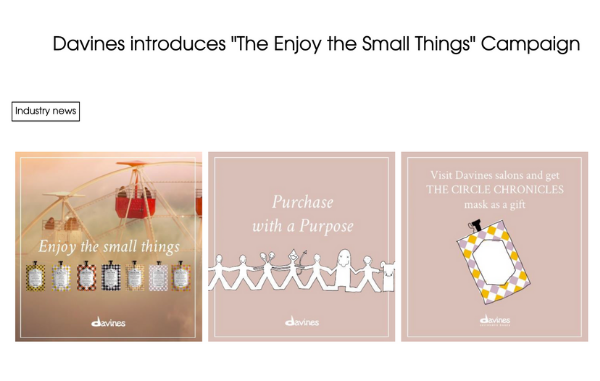 Professional Beauty talks about Davine Enjoy the Small Things campaign