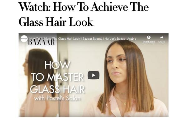 The glass hair look x EIDEAL