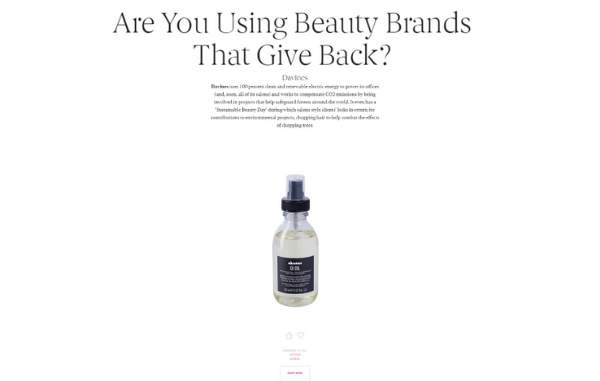 Davines OI Oil spotted in Savoir Flair!