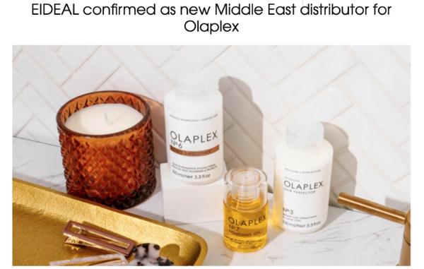 EIDEAL now distributing Olaplex x Professional Beauty