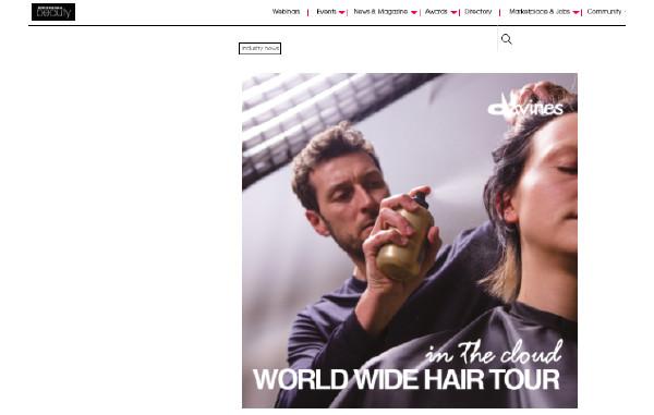 Davines' World Wide Hair Tour 2020 on Professional Beauty Hair Tour