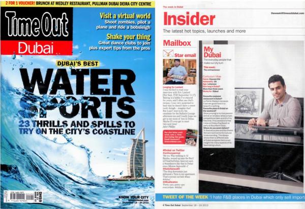 Time Out Dubai September 2013