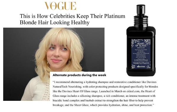 When Davines' new launch helps celebrities maintain their blonde hair in a healthy way!