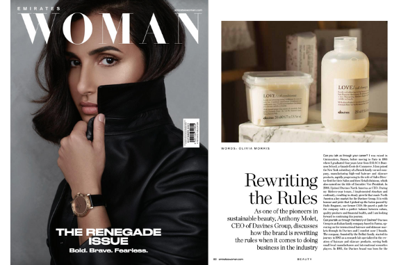 Davines CEO's interview on Emirates Woman