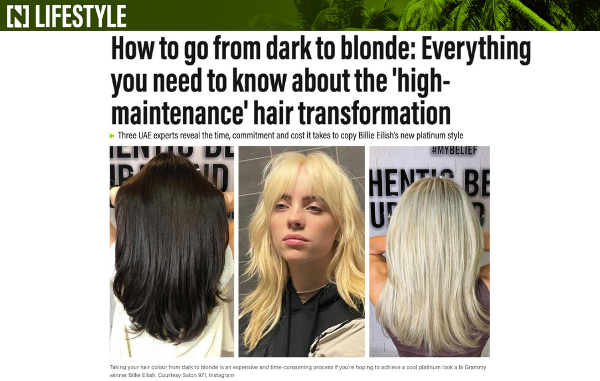 Heart of Glass for a blonde hair transformation!