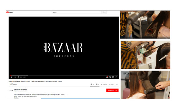 Glass Hair Look by HARPER BAZAAR with EIDEAL tools