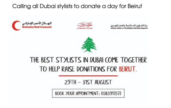 The best stylists in Dubai come together to help raise donation for Beirut