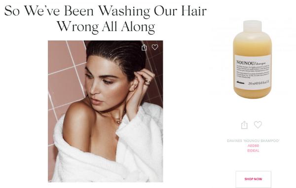 Nounou shampoo on Savoir Flair